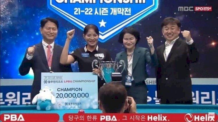 កីឡាការិនីស្នូកឃ័រ ស្រួង ភាវី ឈ្នះជើងឯក Blue One Resort LPBA Championship
